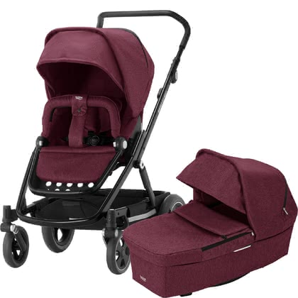 britax r mer kinderwagen go next 2 2018 wine red melange online kaufen bei kidsroom. Black Bedroom Furniture Sets. Home Design Ideas