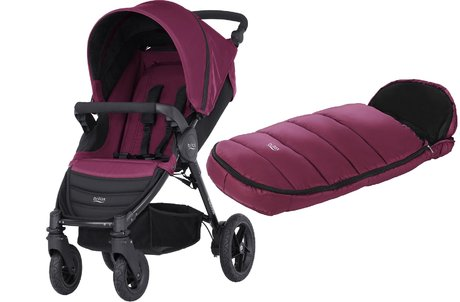 Britax B-Motion 4 inkl. Fußsack Shiny Cosytoes Wine Red 2018 - Großbild