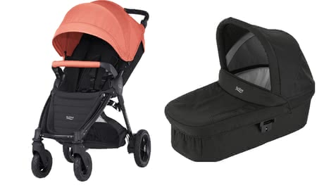 Britax B-Motion 4 Plus inkl. Canopy Pack + Hard Carrycot Coral Peach 2018 - Großbild