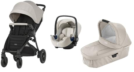 Britax B-Motion 4 Plus inkl. Canopy Pack + Hard Carrycot + Baby Safe 2 i-Size Sand Beige 2018 - Großbild
