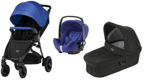 Britax B-Motion 4 Plus inkl. Canopy Pack + Hard Carrycot + Baby Safe 2 i-Size Ocean Blue 2019 - Großbild