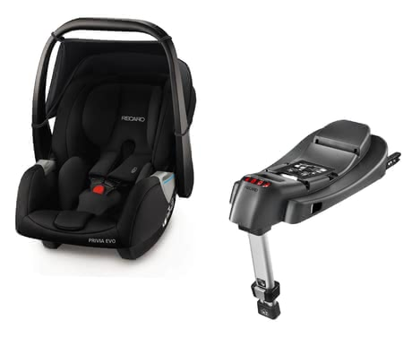 Recaro Babyschale Privia Evo inkl. SmartClick Basis Performance Black 2018 - Großbild