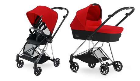 Cybex Platinum Buggy MIOS Komplettset inkl. Color Pack und Kinderwagenaufsatz Autumn Gold_burnt red 2018 - Großbild
