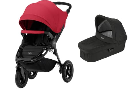Britax Kinderwagen B-Motion 3 Plus inkl. Canopy Pack + Hard Carrycot Flame Red 2018 - Großbild