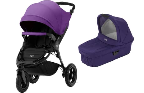 Britax Kinderwagen B-Motion 3 Plus inkl. Canopy Pack + Hard Carrycot Mineral Lilac 2018 - Großbild