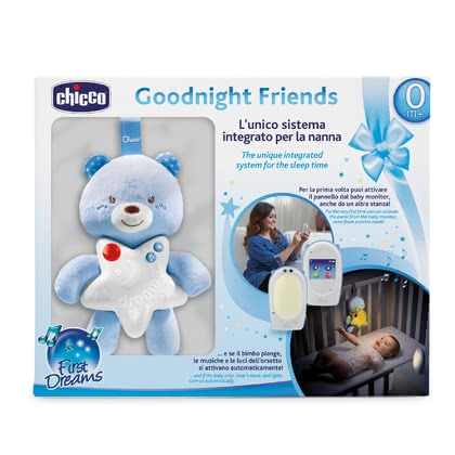 Chicco Set Audio Baby Monitor First Dreams – Gute Nacht Bärchen Boy - Großbild