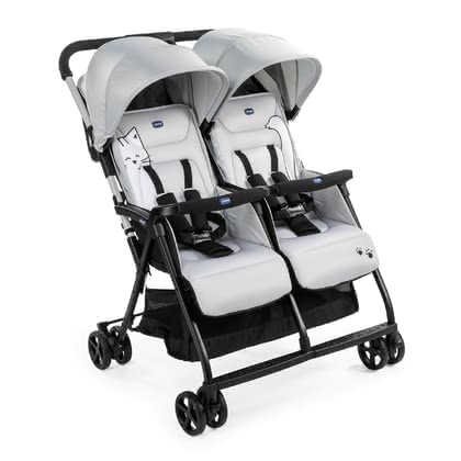 Chicco Zwillingsbuggy OHlalà Twin  Silver Cat 2021 - Großbild