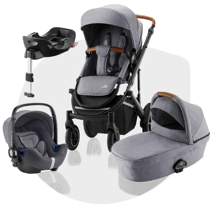 Britax Römer Kinderwagen SMILE III – Comfort Plus Bundle Frost Grey, brown 2020 - Großbild